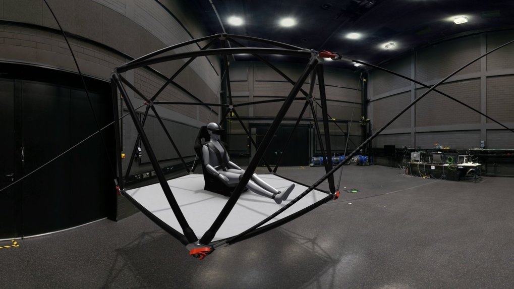 "This is a 360-degree video version of a narrated VR-3D tour created for the University of Tübingen's ""Origins"" exhibition, taking visitors to the latest motion simulator, the Cable Robot Simulator in the Cyberneum of the MPI for Biological Cybernetics. The original VR Experience was developed for immersive viewing with HTC Vive VR glasses in the museum.This video was created by converting the VR content into 360-degree video data and is only part of the overall impression again."